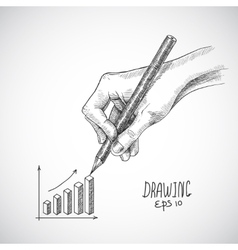 Hand drawing graph vector