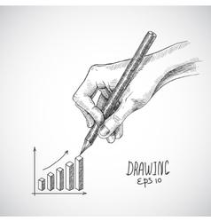 Hand drawing graph vector