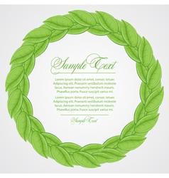 Laurel wreath sign vector