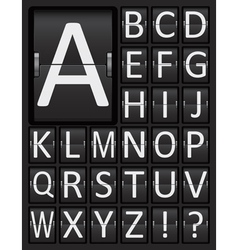 Scoreboard mechanical panel letters alphabet vector