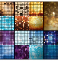 Mosaic backgrounds vector