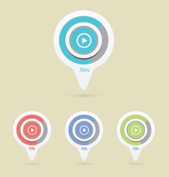 Pointer play icon vector