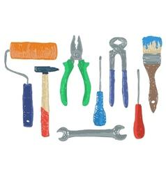 Hardware tools drawing vector