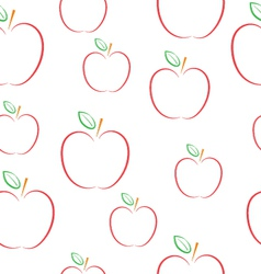 Pattern with apples on a white background vector