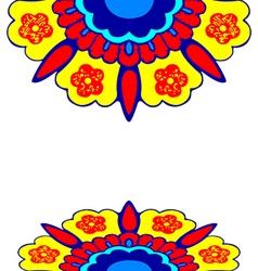 8 ornamental border flowers silhouette pattern vector