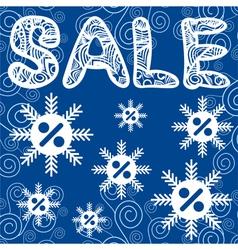 Sale winter vector