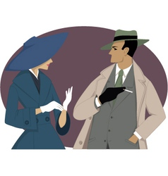 1950s couple vector