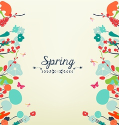 Blossom into spring vintage vector