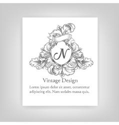 Vintagevintage emblem monogram emblem monogram vector