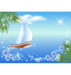 Sailboat floats vector