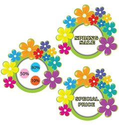 Set of spring sale advertising vector