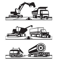 Construction and agricultural transportation vector