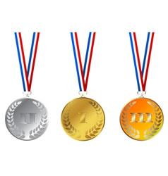 Champions medals vector