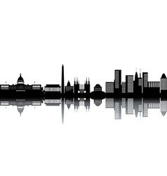 Cityscape silhouettes vector