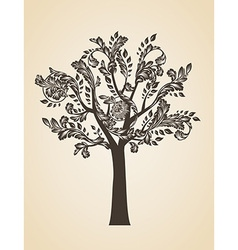 Swirl tree art concept vector