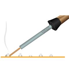 Electric soldering iron 2 vector