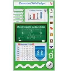 Elements of web design for schools vector