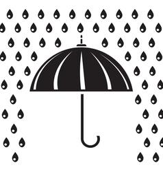 Silhouette of umbrella vector