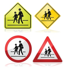 School signs vector