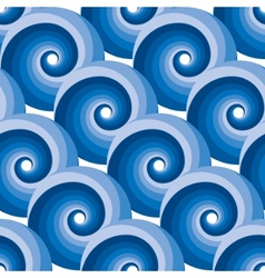 Seamless water wave pattern vector