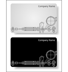 Business cards for the engineer vector