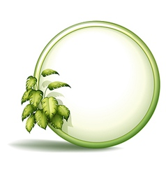 A round empty template with plants vector