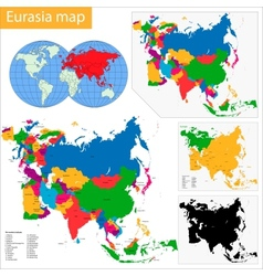 Eurasia map vector