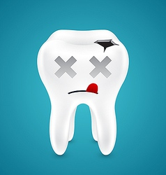 Dead from tooth holes vector