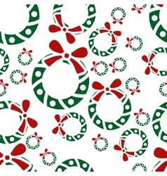 Christmas garland seamless pattern vector