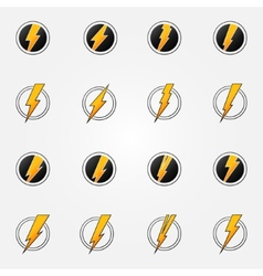 Lightning icons concept set vector