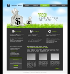 Site with a bag of dollars for business vector