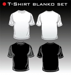 Set t-shirt blank vector
