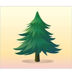 A big pine tree vector