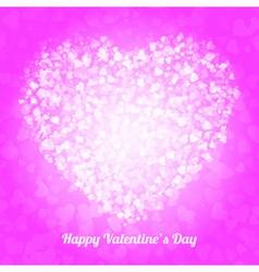 Spot of many hearts valentines day vector