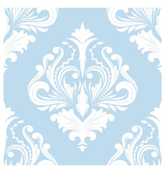 Pattern blue classic vector