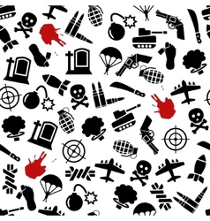 War seamless pattern vector