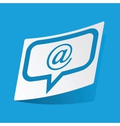 Mail message sticker vector