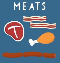 Meats vector