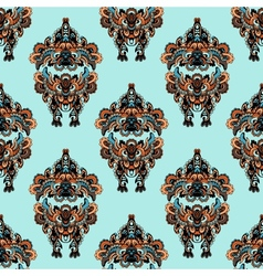 Seamless pattern in folk style vector