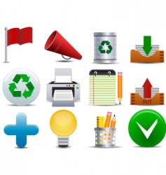 Office and business icon vector