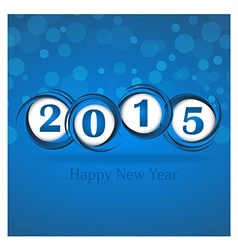 New year 2015 in blue background clip-art vector