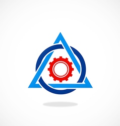 Work gear triangle abstract logo vector