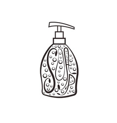 Soap dispenser with bubbles vector