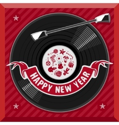 Symbol of the new year plate vector