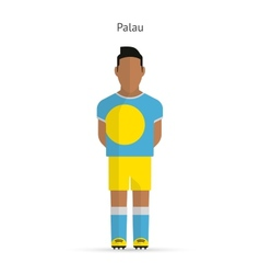 Palau football player soccer uniform vector