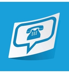 Phone message sticker vector