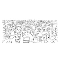 Cityscape sketch for your design vector