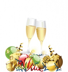 Champagne celebration vector