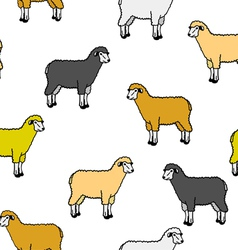 Seamless wallpaper with sheep and rams vector