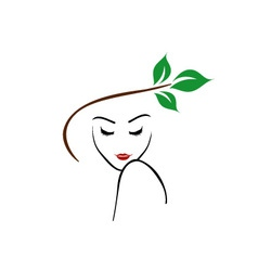 Organic beauty logo vector